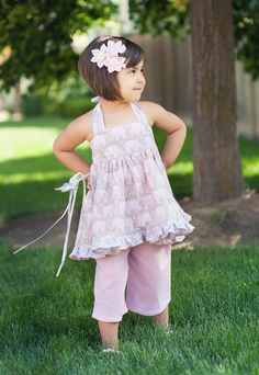 Zuckersüßes+Sommer+Outfit+Rosa+Elephant+Gr.74-128++von+California-Kids+auf+DaWanda.com