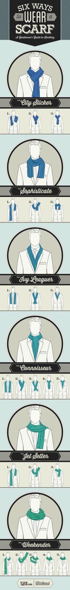 Six Ways To Wear A Scarf