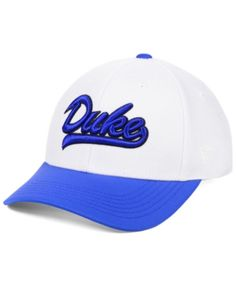 318df9890168d Top of the World Duke Blue Devils Tailsweep Flex Stretch Fitted Cap - White  M L