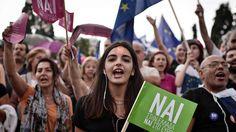 """""""Nai"""". Tysiące Greków demonstruje poparcie dla porozumienia z wierzycielami"""