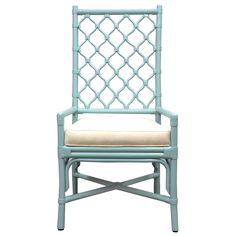 The tall backed Ambrose Dining Chair features Berber inspired lattice work is comfortable to lean against and creates an airy textured dcor in a space when unoccupied. Work well with rattan tables or complement most wood finishes to create a unique dining environment. COM and upgraded fabric available.