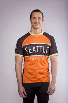 Seattle Washington Pacific Northwest Men's Cycling Jersey Slideshow   Kaidel Sportswear