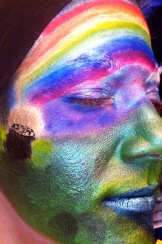 Pot of gold at the end of a rainbow makeup