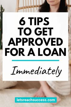Want to know how to get approved for a loan quickly? Check out these six loan approval tips and techniques: Make More Money, Ways To Save Money, Money Tips, Apply For A Loan, Get A Loan, Unsecured Loans, Good Credit Score, Loans For Bad Credit, Car Loans