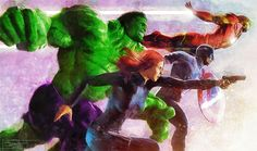 The Avengers by Daniel Scott Gabriel Murray Marvel Comics Art, Marvel Heroes, Marvel Characters, We Have A Hulk, Avengers Art, Classic Beauty, Marvel Universe, Comic Art, Deviantart