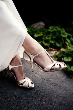 vintage wedding dress and shoes - Google Search