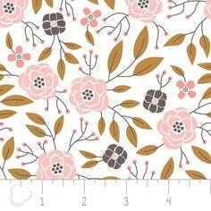"""Designerstoffe USA - Baumwollstoff """"Magnolia - Flowers in White"""" - ein Designerstück von Kathi-Kunterbunt bei DaWanda"""
