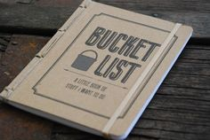 Bucket List Pocket Journal by twinebindery on Etsy