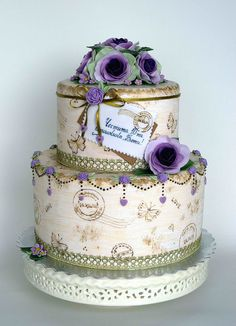 Love letter vintage cake by bubolinkata, via Flickr