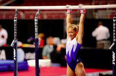 "Shawn Johnson ""hanging out"" on bars! #shawnjohnson #gymnastics #training"