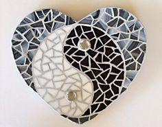 Yin and Yang Heart Mosaic by Heart2HeartMosaics on Etsy