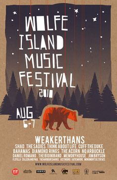 Music Festival poster design by Jud Haynes, via Behance