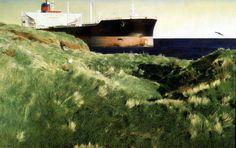 Marzio Tamer, No smoking, tempera on board, cm 45 x 70. www.salamongallery.com | #realism #landscape #nature #figurative #contemporary #art
