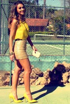 Luigi Bertolli  Shirt / Blouses, Pacific Blue  Skirts and Schutz  Heels / Wedges