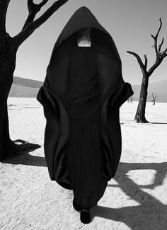 "from The Non's 2010 spring collection, ""Alchemia Mysteria."" #dark #black #cloak #fashion #editorial"