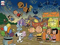Peanuts at a carnival