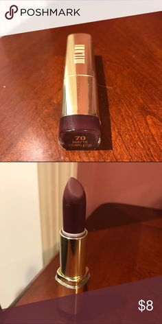 """Vampy Milani Lipstick Like new condition... color is """"Fearless"""" reminds me of Mac's """"Diva"""" as it is a deep vampy color for fall.. Listed as Mac for exposure... Check out my other great makeup items & bundle for a discount!! MAC Cosmetics Makeup Lipstick"""