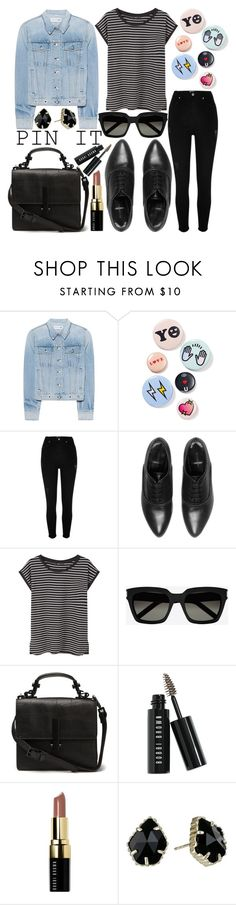 """""""Pins With Personality"""" by sc-styles ❤ liked on Polyvore featuring rag & bone, Bing Bang, River Island, AllSaints, MANGO, Yves Saint Laurent, Bobbi Brown Cosmetics and Kendra Scott"""