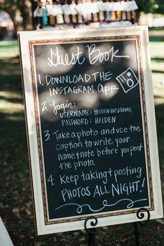 Creative guest book idea!