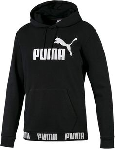 Puma Men's Amplified Logo Hoodie In Black Puma Sweatshirts, Puma Outfit, Puma Mens, Plus Size Activewear, Baby Clothes Shops, Trendy Plus Size, Black Hoodie, Puma Sneakers, Swag Outfits