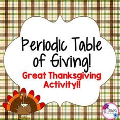 Periodic table christmas activity winter words periodic table and great activity for thanksgiving and for students to get more familiar with the periodic table urtaz Choice Image