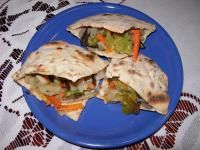 Chlebki pita własnej produkcji (dieta wegańska)