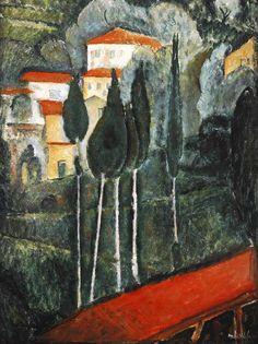 Modigliani Amadeo, aysage dans le midi, 1919