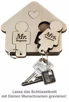 Schlüsselbrett - Mann & Frau