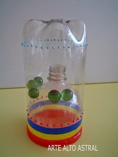 33 Easy-to-Make Pet Bottle Recycled Toys - Kinderspiele Recycled Toys, Recycled Bottles, Infant Activities, Activities For Kids, Outdoor Activities, Games For Kids, Diy For Kids, Fun Crafts, Diy And Crafts