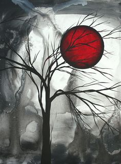 Blood of the Moon 2 by MADART Painting  - Blood of the Moon 2 by MADART Fine Art Print
