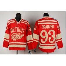 Reebok Detroit Red Wings #93 Johan Franzen Red Ice Premier Hockey Jersey_Johan Franzen Jersey