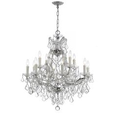 Traditional crystal chandeliers are classic, timeless, and elegant. Our Italian Crystal has Venetian heritage. Venetian crystal (from the glass-making regions in and around Venice, Italy) is molded, not cut. You'll€™You'll notice a rounding of edges that comes from fire polished. Molded crystal, though never as brilliant as cut crystal, has a subtle charm and is an exceptional value. It is an ideal budget crystal for heavily dressed and/or commercially oriented chandeliers.