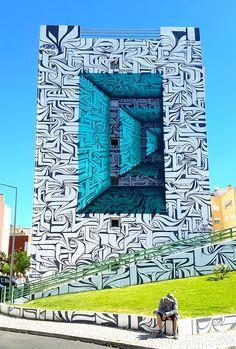 ESTÁ CHINGÓN: Murales con ilusión óptica por Astro