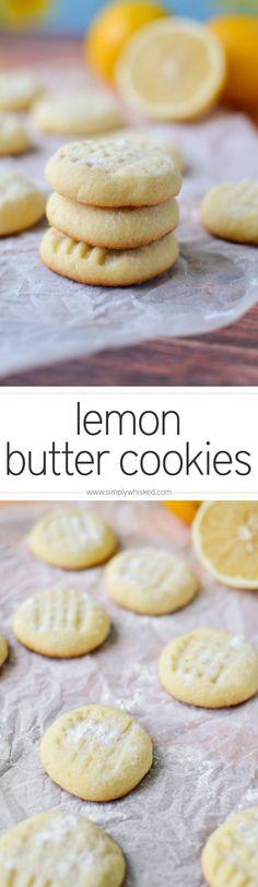 lemon butter cookies | http://simplywhisked.com