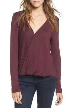 Lush Surplice Tee available at #Nordstrom  Want: Heather grey in M