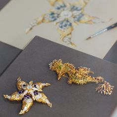 Tiffany designer Jean Schlumberger transformed nature's wonders into jewels of mesmerizing beauty. His Fleur de Mer brooch (shown left), an exquisite creation of diamonds and sapphires, was a gift from Richard Burton to Elizabeth Taylor in 1965. Schlumberger's Seahorse clip (1965) is another splendid example of his depictions of aquatic life.