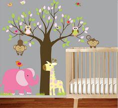 habitacion-bebe-vinilo-buhos-elefante1.jpg (470×429)