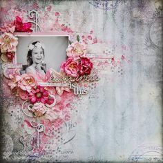 Shimmerz краски: Счастье Это - розовый макет и видеоурок Карине