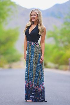 forget about love halter maxi dress