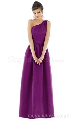 One Shoulder Bridesmaid Dresses could use some embellishment.