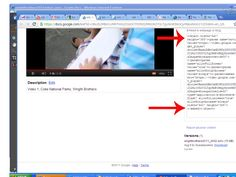 how to upload videos onto google docs for email... and resize them.