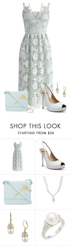 """""""Summer Weddings"""" by freida-adams ❤ liked on Polyvore featuring Chicwish, GUESS by Marciano, Sophie Hulme, Belk & Co., Anne Klein and Belpearl"""