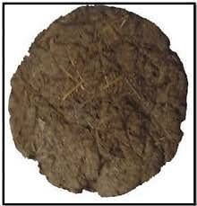 48 PCs Pure Cow Dung Cakes (Gobar Upla) for Hawan and Indian Rituals, Dia 8"
