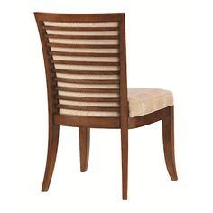 Tommy Bahama Home Ocean Club <b>Quick Ship</b> Kowloon Side Chair with Horizontal Slats