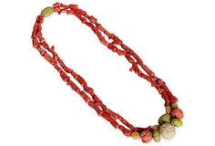 Vintage Branch Coral Necklace on OneKingsLane.com