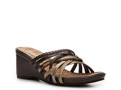 2 Lips Too Too Oceanic Metallic Wedge Sandal Wedges Sandal Shop Women's Shoes - DSW