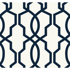 Ashford Geometrics Navy Blue And White Hourglass Trellis Wallpaper Wallpaper Wall Decor H