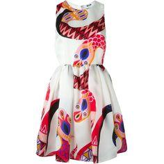 MSGM Snake Print Day Dress ($895) ❤ liked on Polyvore featuring dresses, white, python dress, msgm, silk dress, msgm dress and snake print dress