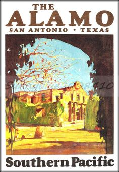 The Alamo Texas Southern Pacific RR CLEARANCE Deal Vintage Poster Art Print | eBay