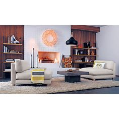 element coffee table in a cozy set up - like this as a possible style for our living room